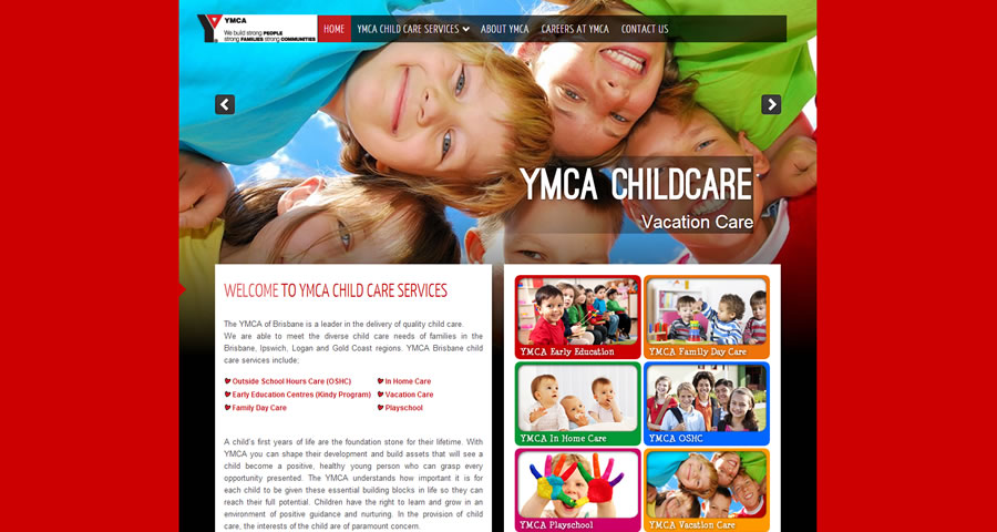 Sumico Net Web Design Portfolio: YMCA Child Care