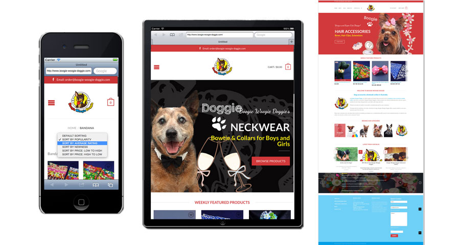 Doggie Responsive Online shop Website